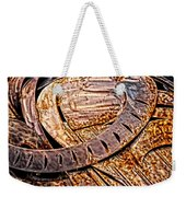 Stainless And Rust Abstract Weekender Tote Bag