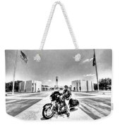 Standing Watch At The Houston National Cemetery Weekender Tote Bag by David Morefield