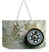 Star Map And Compass Weekender Tote Bag