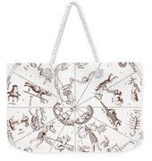 Star Map From Kirchers Oedipus Weekender Tote Bag by Science Source