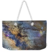 Star Map Version The Milky Way And Constellations Scorpius Sagittarius And The Star Antares Weekender Tote Bag