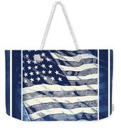 Star Spangled Banner Blue Weekender Tote Bag