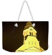 Star Trails Behind Vodice Church Weekender Tote Bag