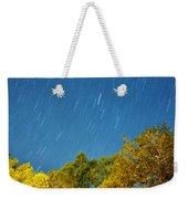 Star Trails On A Blue Sky Weekender Tote Bag