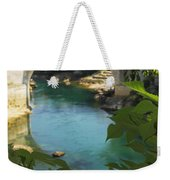 Stari Most Or Old Town Bridge Over The Weekender Tote Bag