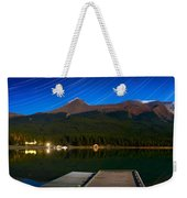 Starry Night Of Mountains And Lake Weekender Tote Bag
