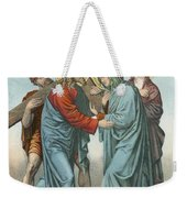 Station Iv Jesus Carrying The Cross Meets His Most Afflicted Mother Weekender Tote Bag