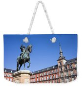 Statue Of King Philip IIi At Plaza Mayor Weekender Tote Bag