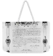 Statue Of Liberty: Deed Weekender Tote Bag