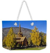 Stave Church In Lom Weekender Tote Bag