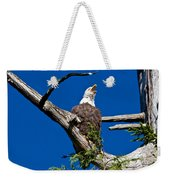 Squawking Alaskan Eagle Weekender Tote Bag