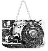 steam Engine pencil sketch Weekender Tote Bag