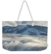 Steamboat Ski Area In Clouds Weekender Tote Bag