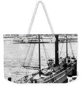 Steamer In The Hudson River - New York - 1909 Weekender Tote Bag