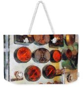 Steampunk - Gauges In Engine Room Weekender Tote Bag
