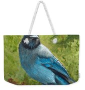 Stellar Jay Weekender Tote Bag by Dee Carpenter