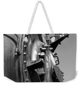 Steme Engine Front Black And White Weekender Tote Bag