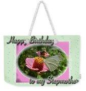 Stepmother Birthday Greeting Card - Butterfly On Flower Weekender Tote Bag