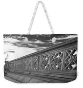 Steps Of Central Park In Black And White Weekender Tote Bag