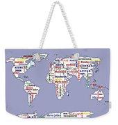 Steve Jobs Apple World Map Digital Art Weekender Tote Bag
