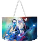 Steve Lukather And Leland Sklar From Toto 02 Weekender Tote Bag