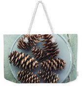 Stil Life With  Seven Pine Cones Weekender Tote Bag