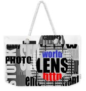 Still Camera From Words Weekender Tote Bag