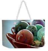 Still Life Crosses Reflected In Bowl Of Glass Marbles Art Prints Weekender Tote Bag