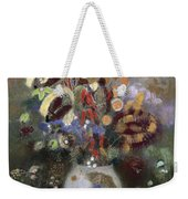 Still Life Of A Vase Of Flowers Weekender Tote Bag by Odilon Redon