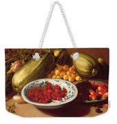 Still Life Of Cherries - Marrows And Pears Weekender Tote Bag
