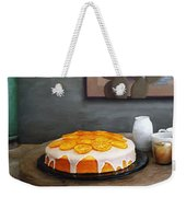 Still Life With Cake And Cactus Weekender Tote Bag