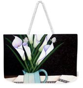 Still Life With Callas Weekender Tote Bag