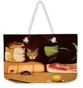 Still Life With Cat And Mouse Weekender Tote Bag