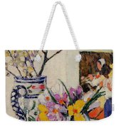Still Life With Flowers In A Vase   Weekender Tote Bag