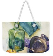 Still Life With Green Bottle Weekender Tote Bag
