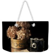 Still Life With Hydrangea And Camera Weekender Tote Bag
