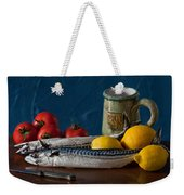 Still Life With Mackerels Lemons And Tomatoes Weekender Tote Bag