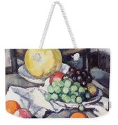 Still Life With Melons And Grapes Weekender Tote Bag by Samuel John Peploe