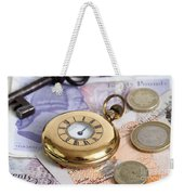 Still Life With Pocket Watch, Key Weekender Tote Bag by Photo Researchers