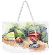 Still Life With Red Wine Glass Weekender Tote Bag