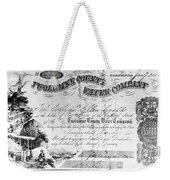 Stock Certificate, 1853 Weekender Tote Bag