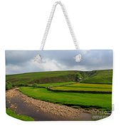 Stone Barn In A Fold Of The Landscape Weekender Tote Bag