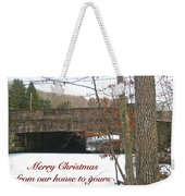 Stone Bridge Christmas Card - Our House To Yours Weekender Tote Bag