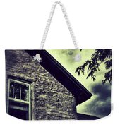Stone House In Storm Weekender Tote Bag
