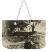 Stone Lantern And Temple Bell Weekender Tote Bag