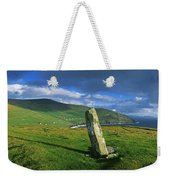 Stone On A Landscape, Ogham Stone Weekender Tote Bag
