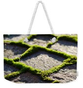 Stone Road With Green Moss Weekender Tote Bag