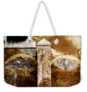Stone Sight - Two Arches And A Column Draws A Disturbing Almost Human Face Weekender Tote Bag