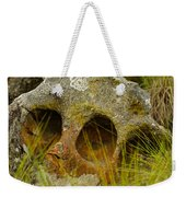 Stone Skull Weekender Tote Bag