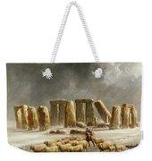 Stonehenge In Winter  Weekender Tote Bag by Walter Williams